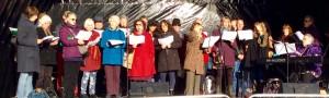 Christmas Magic Carol singers.